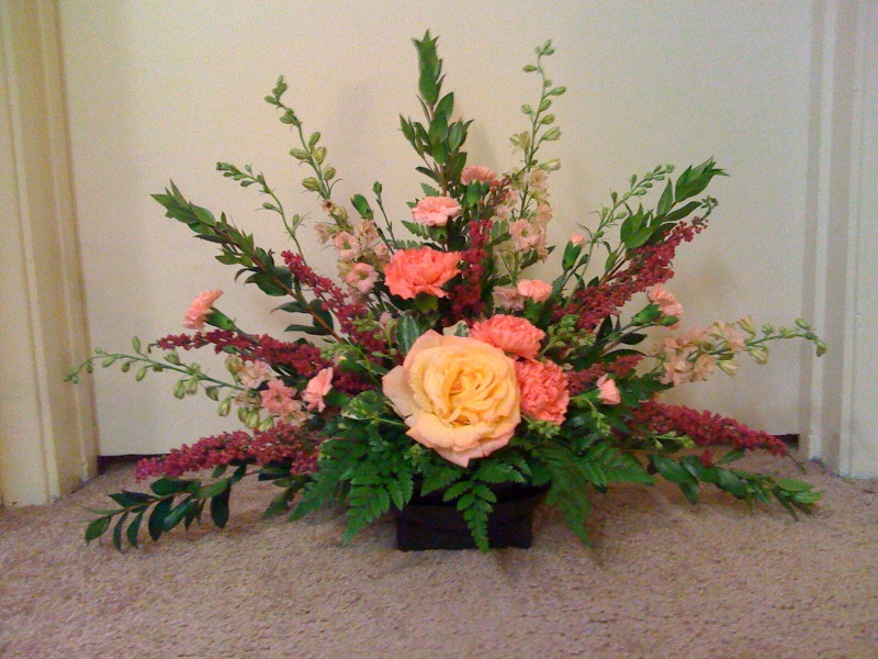 how to make a fan arrangement floral design